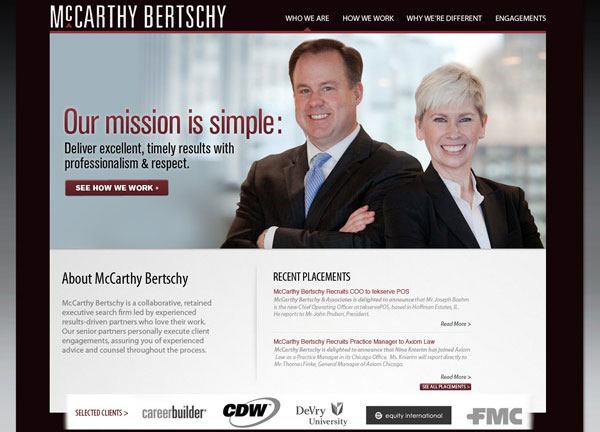 McCarthy Bertschy Chicago Web Design