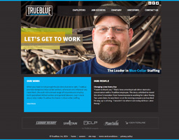 TrueBlue Website Redesign