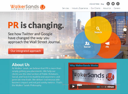 Walker Sands Website Redesign