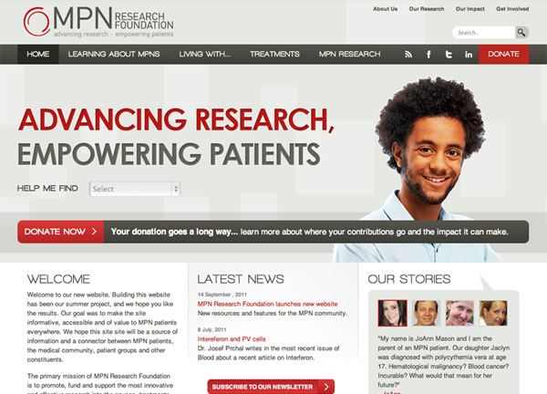 MPN Research Foundation Chicago Web Design
