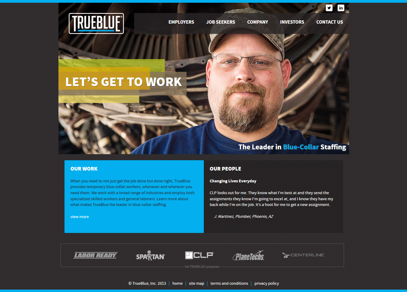 TrueBlue Chicago Web Design